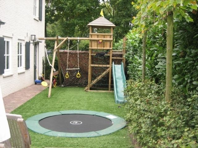 Trampoline Kleine Tuin : Bekend trampoline in kleine tuin eg belbin