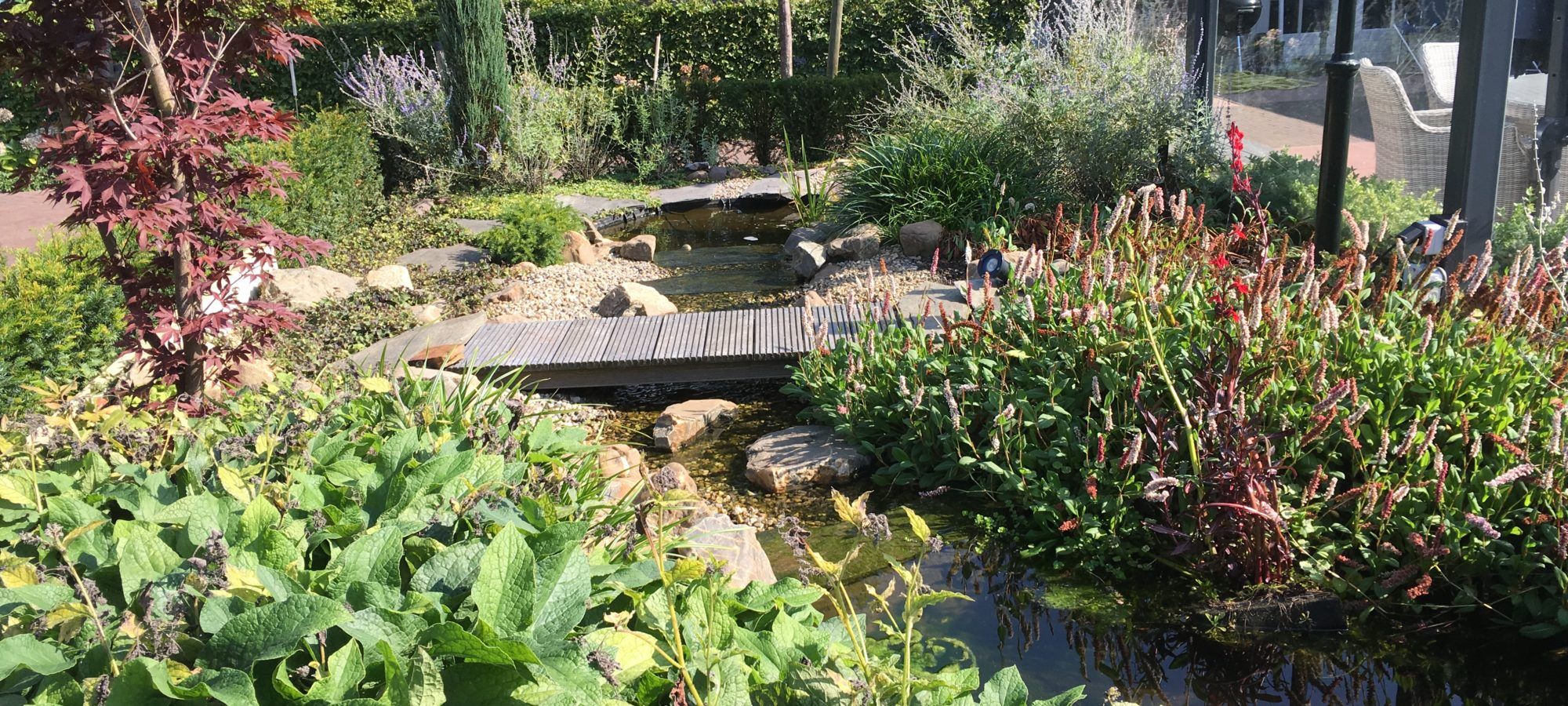 Waterloop in de tuin
