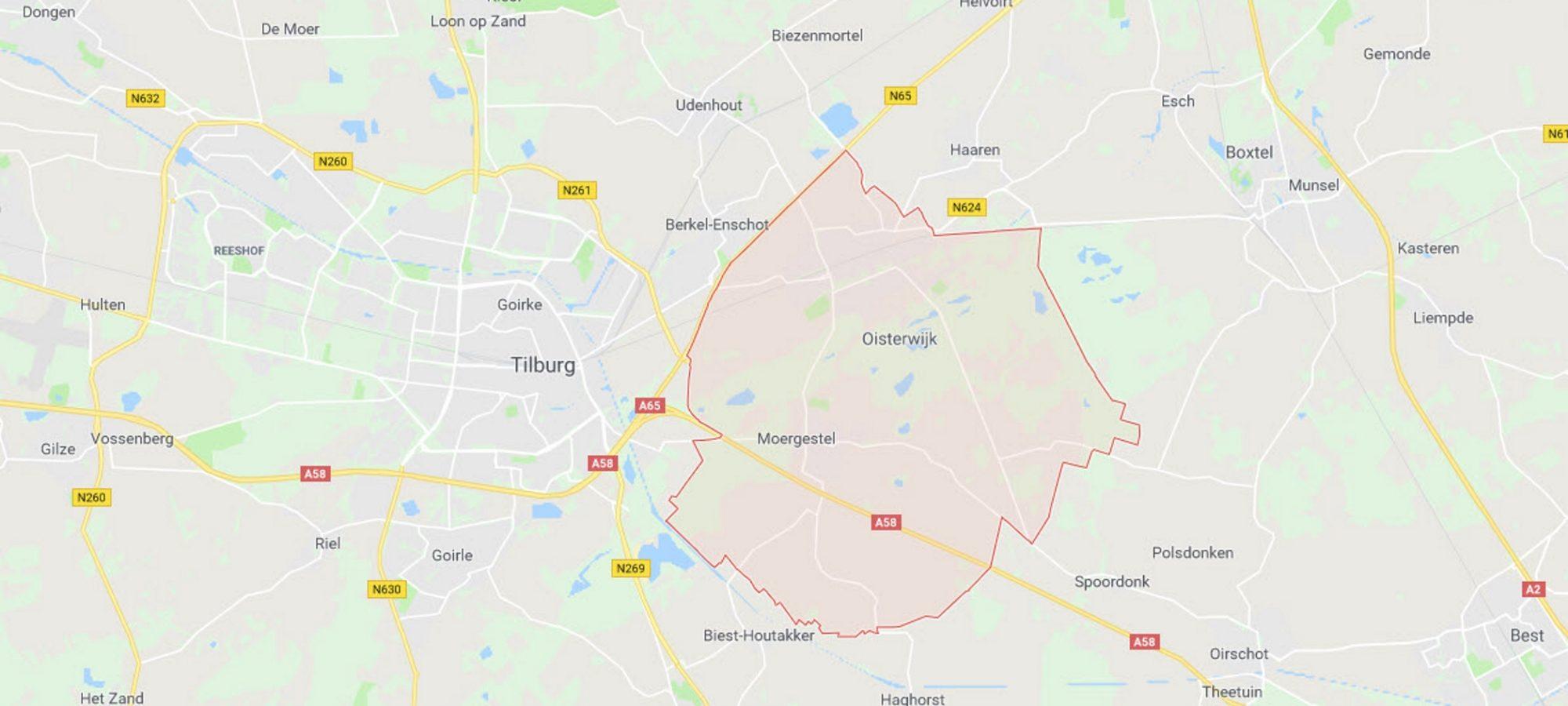 landkaart, regio OIsterwijk